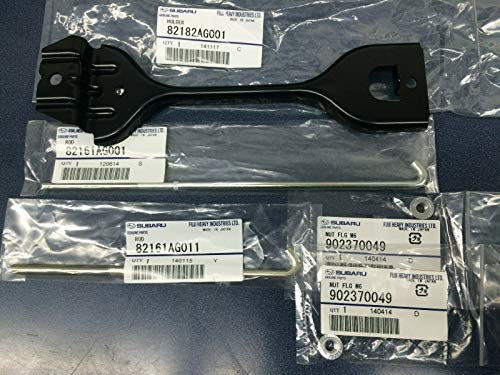 Genuine Subaru Battery Tie Down Holder Clamp Kit Sti Forester Impreza WRX Crosstrek 82182AG001 82161AG001 82161AG011 902370049 ()