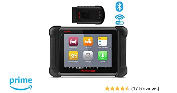 Autel MaxiSys MS906BT Bluetooth Automotive Scan Tool Diagnostic Scanner  with ECU Coding, Key Coding, Bi-Directional Control, Oil Reset, ABS, SRS,  DPF,