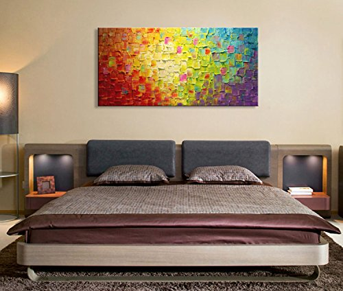 Seekland Art Hand Painted Texture Large Oil Painting on Canvas Modern Abstract Huge Wall Art for Living Room Decor Contemporary Artwork Framed Ready to Hang (Framed 6030 (Large Abstract Painting)