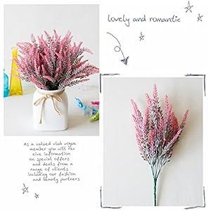Hoomall 7 Bundles Artificial Lavender Bouquet Fake Lavender Bunch Artificial Plant for Wedding, Home Decor, Office, Garden, Patio Decoration 108