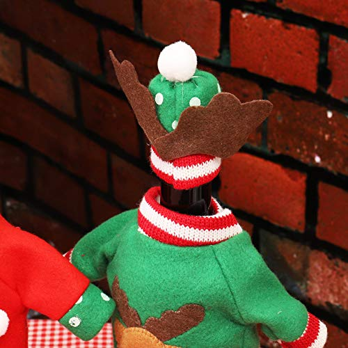 Natale Vino Sacchetti Borse 3 Pezzi per Decorazioni Natalizie Maglione Decorazioni per Feste Regali di Natale Sacchetti Della Copertura Della Bottiglia di Vino di Natale