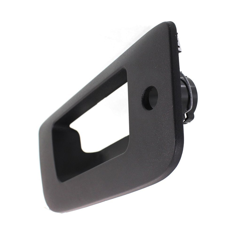 Tailgate Handle Bezel compatible with Chevrolet Silverado//Sierra 1500 07-13 2500//3500 HD 07-14 Outside Textured-Black w//Keyhole Fits 2007
