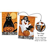 Halloween Night Ghost and Black Cat Two Sided House Flag Review