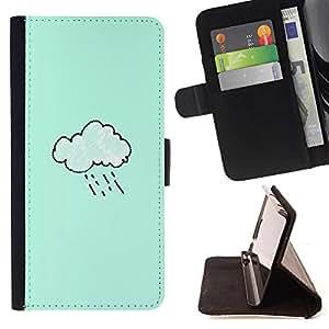 King Case - FOR Apple Iphone 4 / 4S - very regrettable you - Prima caja de la PU billetera de cuero con ranuras para tarjetas, efectivo Compartimiento desmontable y correa para la mu?eca