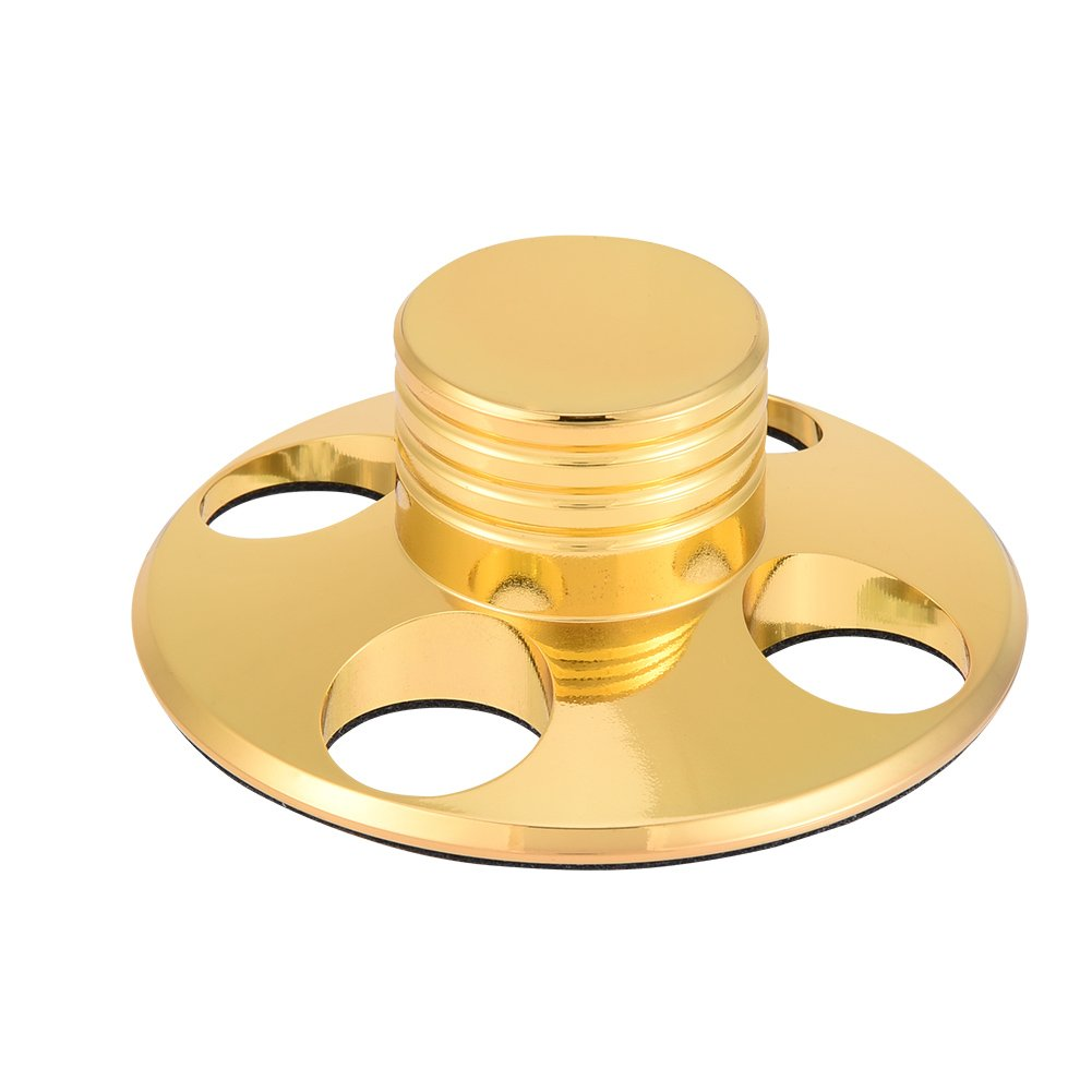 LP Vinyl Turntables Metal Disc Stabilizer Record Weight/Clamp HiFi Turntable Copper Clamp for LP Vinyl Record Player Zerone