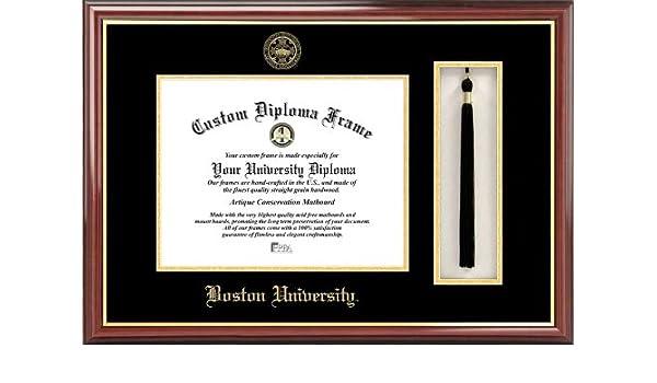 Campus Images MA993PMHGT Boston University Tassel Box and Diploma Frame 11 x 14