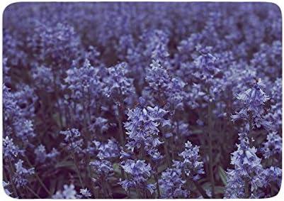 24 by 36-Inch 24 X 36 Kess InHouse Ann Barnes Bluebell Forest Purple Flowers Memory Foam Bath Mat