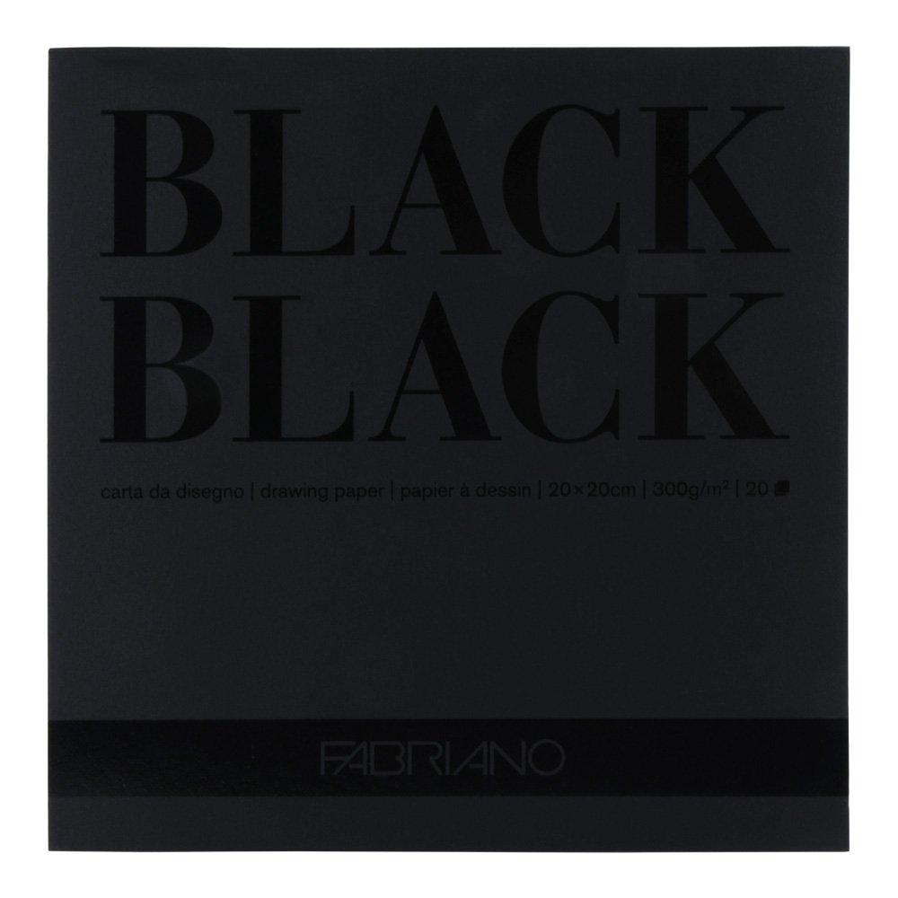 Fabriano Black Black Pad 8X8 300gsm SAVOIR-FAIRE