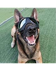 Black Pet Mask/Waterproof Dog Sunglasses, Windproof Rainproof and Snowproof Dog Goggles for Medium/Large Dogs