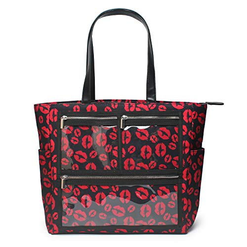 - Essential Oils Tote Oversized Red lips sense Weekend Daily Canvas WOW Bag Display Windows (PVC pockets)