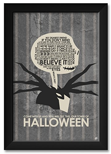 Our Town of Halloween Framed Art Print by Stephen Poon. Print Size: 12