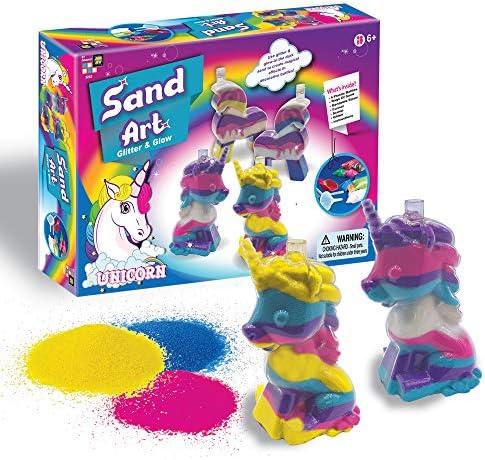 UNICORN KINETIC SAND GLITTER CRAFT KIT ZZAND KIDS SENSORY MESSY PLAY TIME FUN
