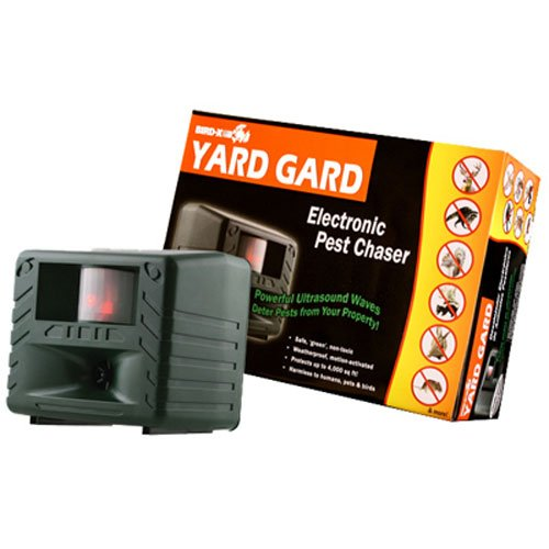 Bird-X Yard Gard Electronic Animal Repeller keeps unwanted pests out of your yard with ultrasonic...