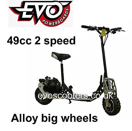 Evo Powerboard 49 cc gasolina Scooter rueda grande, 2 x ...