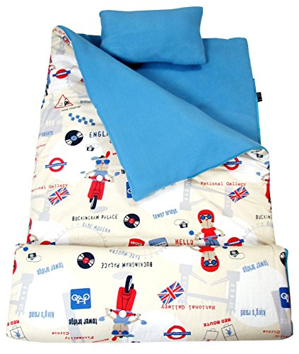 SoHo Kids Dog Cool Trip Children Sleeping Slumber Bag with Pillow and Carrying case Lightweight Foldable for Sleep Over ()