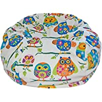 Ahh! Products Pretty Owls Anti-Pill Fleece Washable Large Bean Bag Chair