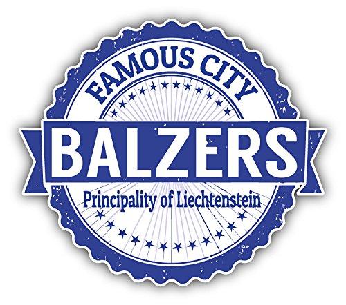 City Sticker - Balzers City Liechtenstein Grunge Travel Stamp Car Bumper Sticker Decal 5