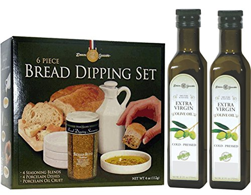 Bread Dipping Seasonings, Cruet & Saucers