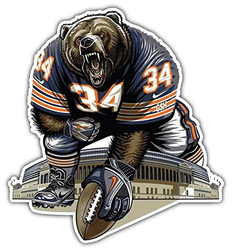 Sport Chicago Bears NFL Mascot Car Bumper Sticker Decal 5'' X 5'' ()