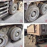 MAXFAVOR Large Size Traction Mat 2 Pack Black