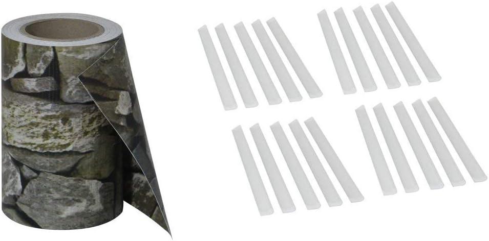 Aufun Schermi divisori e protettivi per Giardino PVC Paravista con 20clip per linstallazione 35m x 19cm Ardesia
