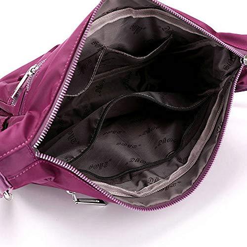 A Purple Impermeabile Da In Taihang Donna Color Tracolla Nylon Esterna Borsa 5HUq5Pwxf