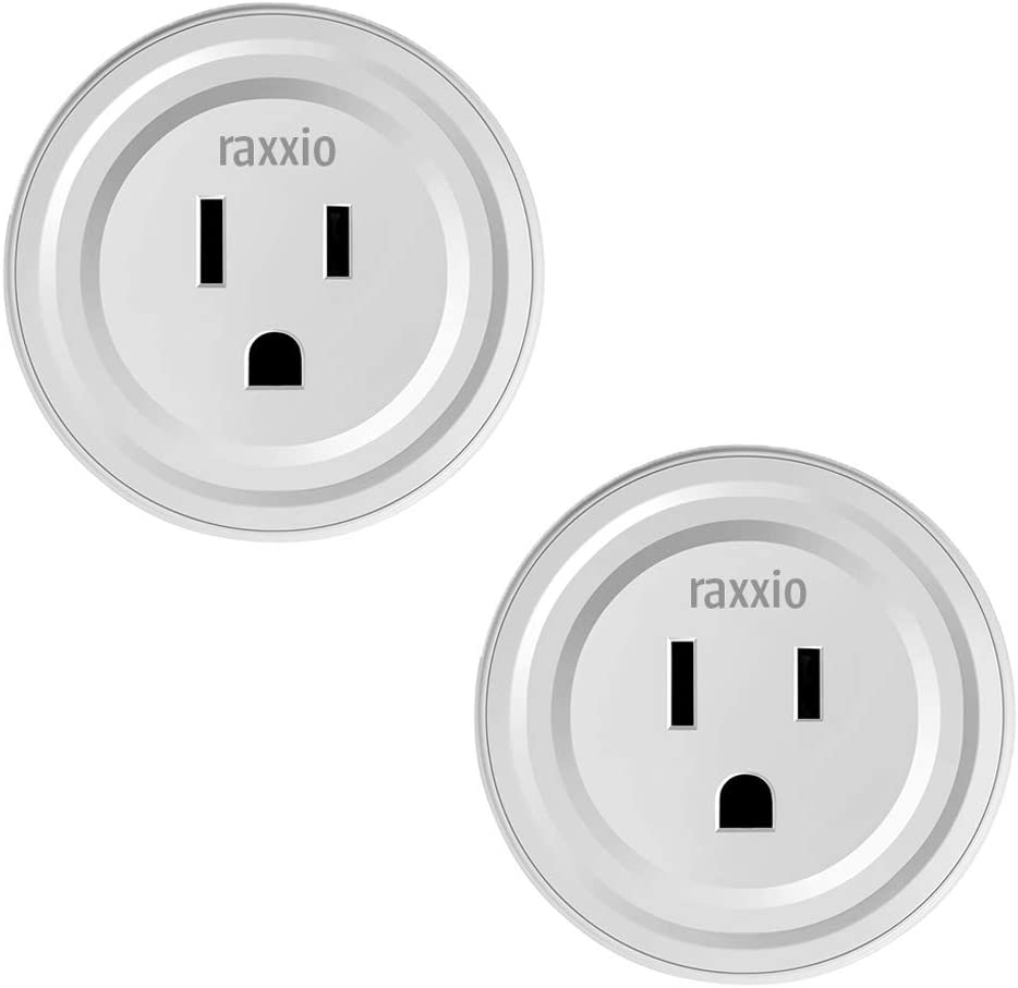 Raxxio Smart Plug, Wifi Outlet To Activate Your Devices With Wireless Control, Smart Outlet Socket Works With Mobile Apps, Amazon Alexa Smart Plugs, Google Home Smart Plugs, No Hub Required (2 Pack)