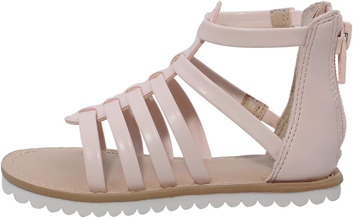 MIXIN Toddler//Little Kid Girls Gladiator Sandals with Strappy Ankle High Back Zipper