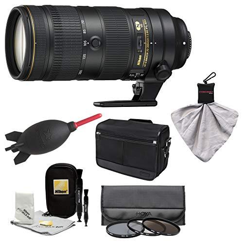 Nikon 70-200mm f/2.8E FL VR AF-S ED Zoom-Nikkor Lens with Messenger Case + 3 Hoya UV/CPL/ND8 Filters + Kit (Nikon 70 200mm F 2-8 Ed Vr)