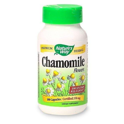 Nature's Way - Chamomile Flowers, 350 mg, 100 capsules