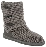 BEARPAW Women's Knit Tall Boot,Gray II,6 M US