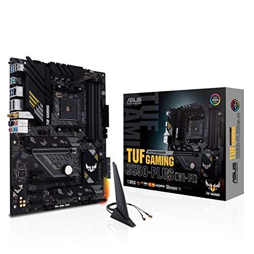 ASUS TUF Gaming B550-PLUS WiFi AMD AM4 Zen 3 Ryzen 5000 & 3rd Gen Ryzen ATX Gaming Motherboard (PCIe 4.0, WiFi 6, 2.5Gb LAN, BIOS Flashback, USB 3.2 Gen 2, Addressable Gen 2 RGB Header and Aura Sync)
