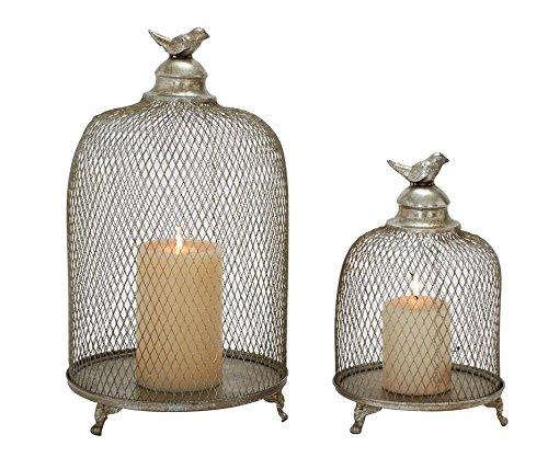 (Deco 79 52990 Metal Candle Lantern Set of 2)