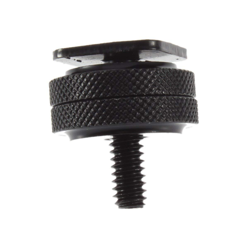 JohnJohnsen 1//4-20 Tr/ípode de Aluminio anodizado Tornillo de Metal para Flash Adaptador de Zapata Caliente Dispositivo Digital C/ámara Accesorios de fotograf/ía Negro