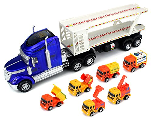 Velocity Toys Super Construction Power Trailer Children's