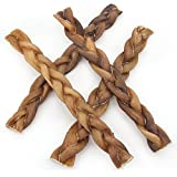 GigaBite by Best Pet Supplies - USDA & FDA Certified Odor-Free Braided Bully Sticks - 12-inch, 4 pcs/pack