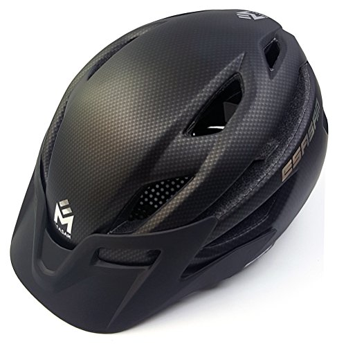 SASAM Mountain Bike Helmet with Detachable Visor Padded Adjustable CPSC Safety Certified MTB Cycling Bicycle Helmets Men Women and Youth Teenagers Sports Outdoor Safety Helmet