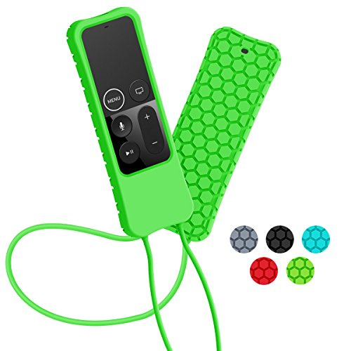 Price comparison product image Apple TV Remote Case - Sahiyeah Light Weight Anti Slip Waterproof Shockproof Silicone Protective Case Cover for Apple TV 4K/4th Gen Remote Controller,Green