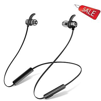 Bluetooth Auriculares inalámbricos deportes tapones para los oídos a prueba de agua binaural 4.2 Negro: Amazon.es: Electrónica