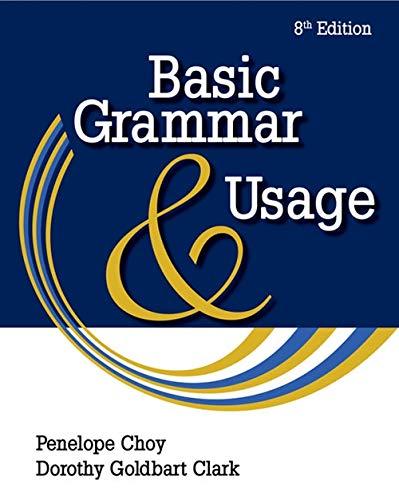 Basic Grammar and Usage ()
