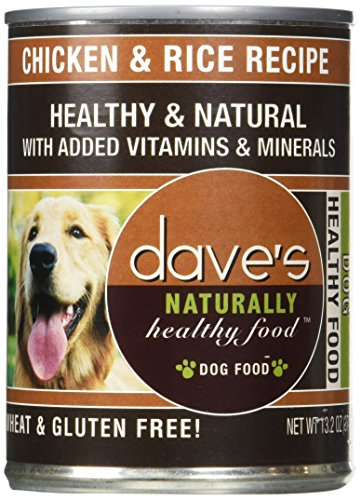 Dave'S Naturally Healthy, Chicken & Rice For Dogs, 13 Oz Can (Case Of 12 )