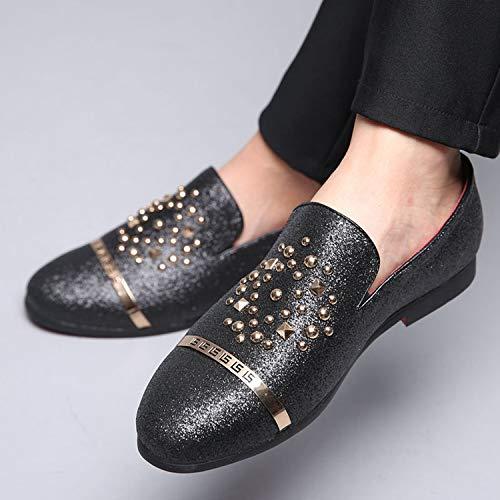 Jojsely56 Manuel de la Mode particuli/èrement de la Taille Bottes en Cuir tiss/é de Grande Taille Chaussures de Mocassins en Cuir Chaussures