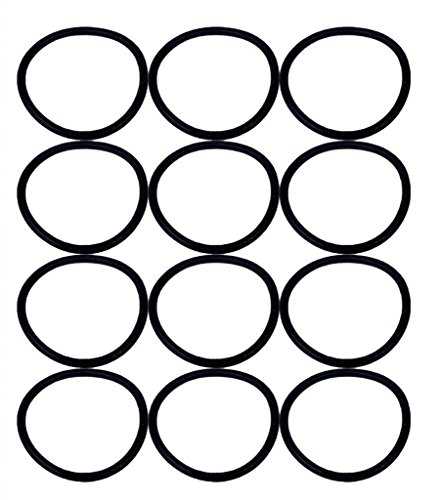 (Eureka SAN-GENBELT (12 Pack) Vacuum Cleaner Rubber Brush Roll Belt, Black # E-30563-12pk)