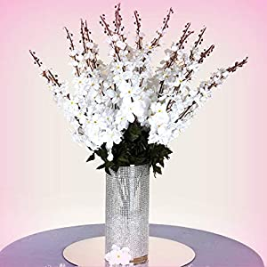 Inna-Wholesale Art Crafts New 18 to 27 White Delphinium Stems Filler Silk Decorating Flowers Bouquet Centerpieces - Perfect for Any Wedding, Special Occasion or Home Office D?cor 42