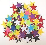 Arts & Crafts : 85 pc Mixed Color Assortment 1.5 inch Sticky Back Felt Stars