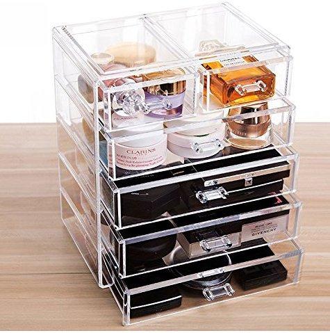 Acrylic 2 Drawers Cosmetic Organizer - 5