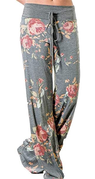 4b7b71c86919 Nanquan-women clothes NQ Women s Boho Fold Over Print Wide Leg Flared Bell  Bottom Pants at Amazon Women s Clothing store