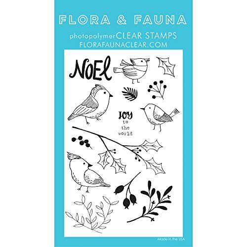 Winter Aviary - Flora & Fauna Clear Stamps Winter Aviary