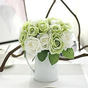 JJH 9 Branch Silk Plants Tabletop Flower Artificial Flowers 4