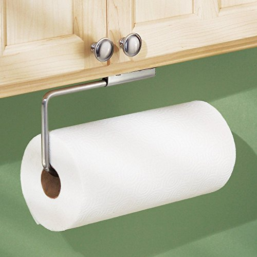 081492393702 - InterDesign Forma Swivel Paper Towel Holder for Kitchen - Wall Mount/Under Cabinet, Brushed Stainless Steel carousel main 1